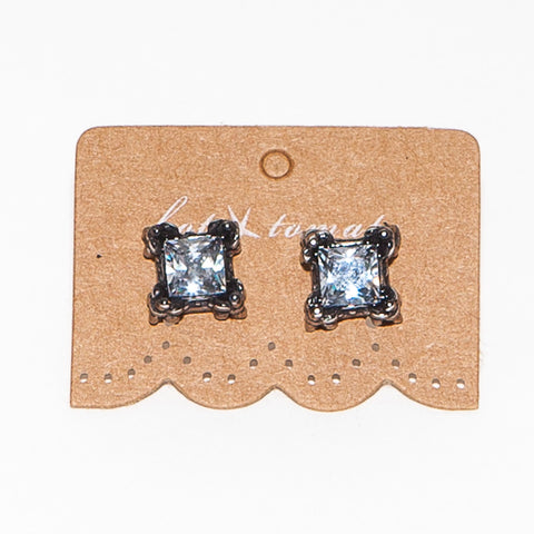 Hot Tomato Square Set Antique Silver Studs