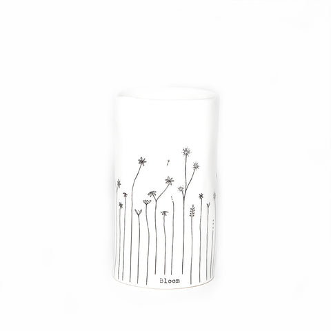 East of India Porcelain 'Bloom' Mini Vase