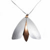 Mor by Design Textured Aluminium and Silver Moth Pendant