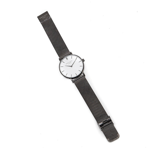 Mr Beaumont Mesh Strap Gent's Watch with Silver Face