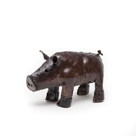 African Creations Rustic Fair Trade Piglet