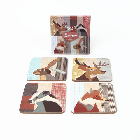 Magpie Beasties Set of Four Coasters