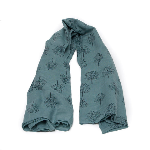 Teal/Duck Egg Mulberry Tree Scarf