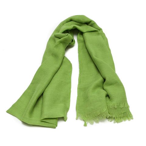 Plain Bright Lime Green Scarf