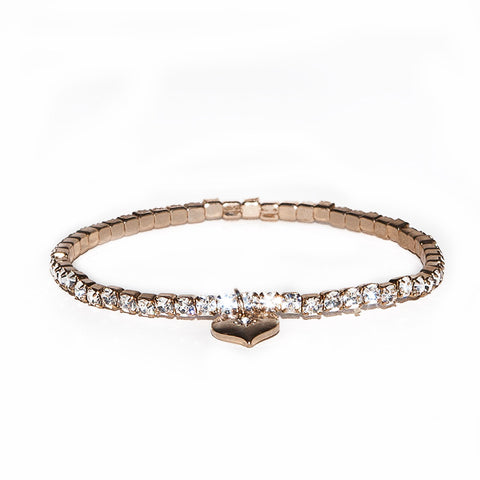 Lovett Clear Crystal Stretch Tennis Bracelet