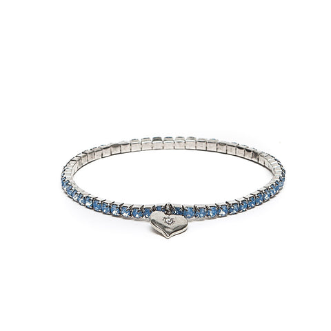 Lovett Blue Swarovski Crystal Stretch Bracelet