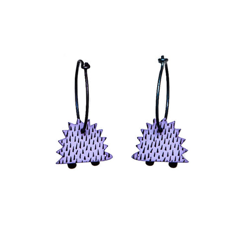 Lene Lundberg K-Form Lilac Hedgehog Earrings