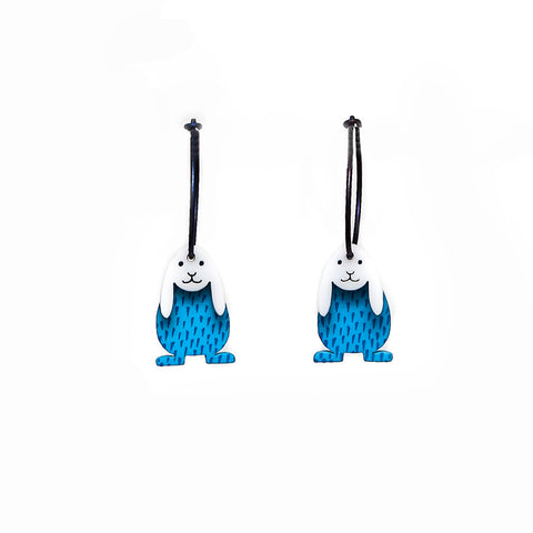 Lene Lundberg K-Form Turquoise Bunny Earrings