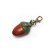 Paulette Rollo Tiny Cognac/Green Leather Acorn Purse