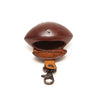 Paulette Rollo Cognac Rugby Ball Leather Purse