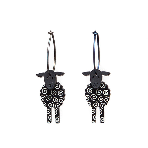 Lene Lundberg K-Form Black Sheep Earrings