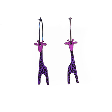 Lene Lundberg K-Form Purple Giraffe Earrings