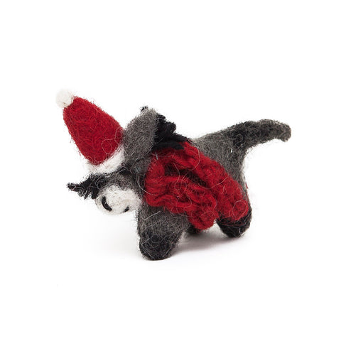 Amica Fair Trade Felt Mini Christmas Donkey Decoration