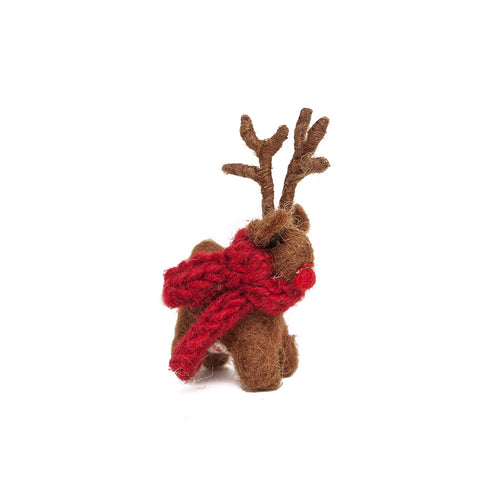 Amica Fair Trade Felt Mini Standing Reindeer