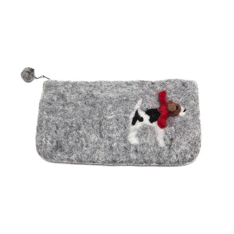 Amica Felt Fox Terrier Purse