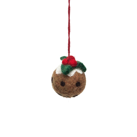 Amica Fair Trade Felt Christmas Pudding Decoration