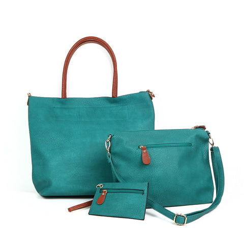 Bright Turquoise Shopper + Handbag