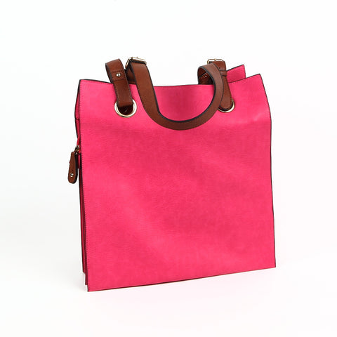 Bright Pink Shopper Style Bag from Long & Sons