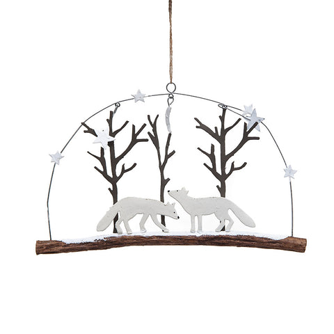 Shoeless Joe Foxes in the Woods Decoration