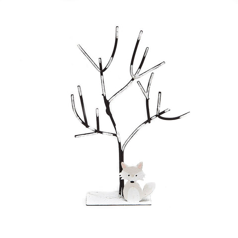 Shoeless Joe Snowy Fox and Tree Decoration