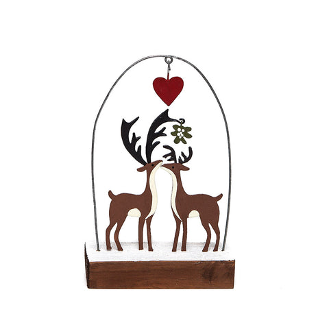 Shoeless Joe Kiss Me Deer Standing Decoration