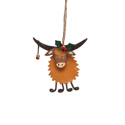 Shoeless Joe Highland Coo Decoration