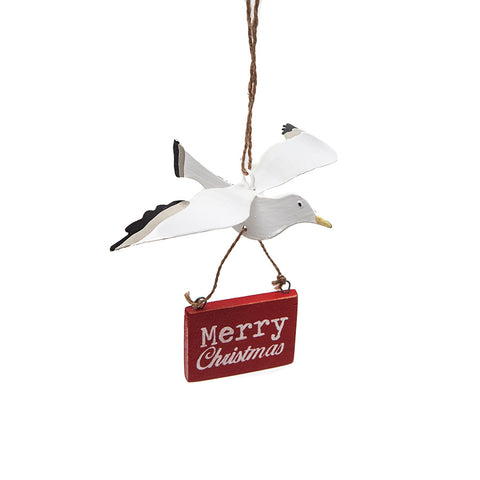 Shoeless Joe Merry Christmas Seagull Decoration