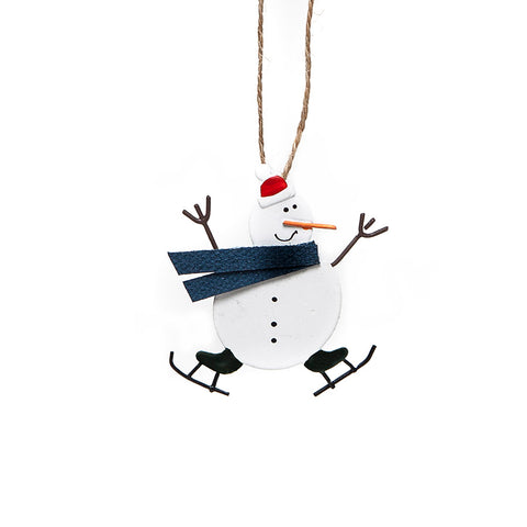 Shoeless Joe Mini Skating Snowman Decoration