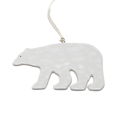 East of India Handsome Ceramic Polar Bear Decoration