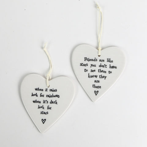 East of India Ceramic Hearts
