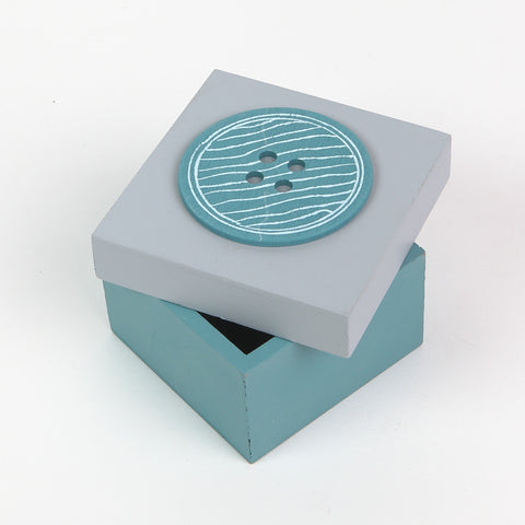 Teal/Grey Button Box