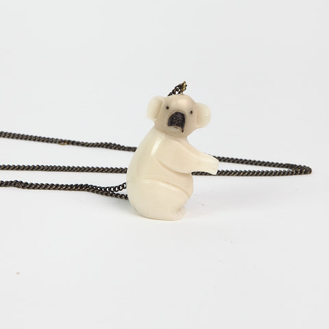 Just Trade Tagua Nut 'Koala Bear' Necklace Alternate View