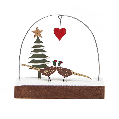 Shoeless Joe J'Adore Pheasants Standing Decoration