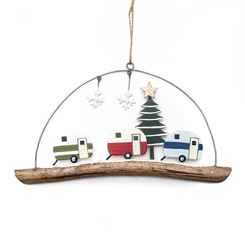Shoeless Joe Retro Caravan Hanging Decoration