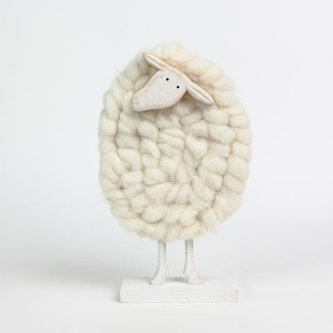 Quirky Wood and Woolly Sheep
