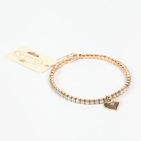 Lovett Swarovski Opaque Crystal Gold Finish Tennis Bracelet