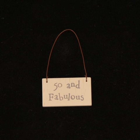 East of India Mini Age Tags - 40, 50, 60