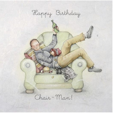 Chair-Man Birthday Greeting Card from Berni Parker