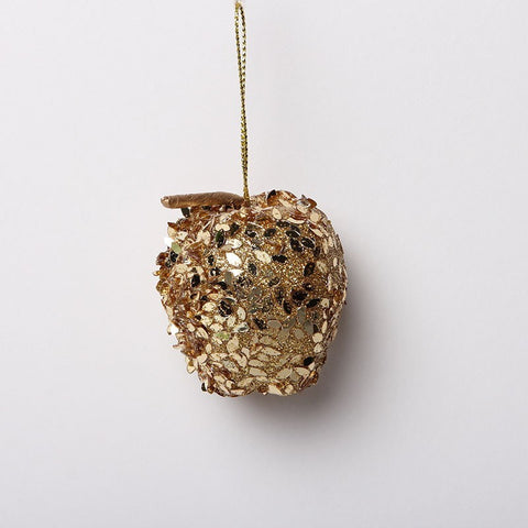 Mini Gold Sequinned Apple