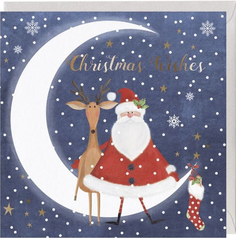 Festive Moonlight Friends Christmas Card
