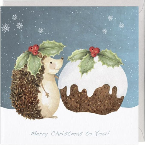 Fizzy Hedgehog Christmas Card
