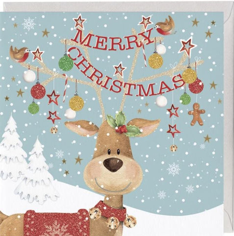 Cracking Christmas Reindeer Christmas Card
