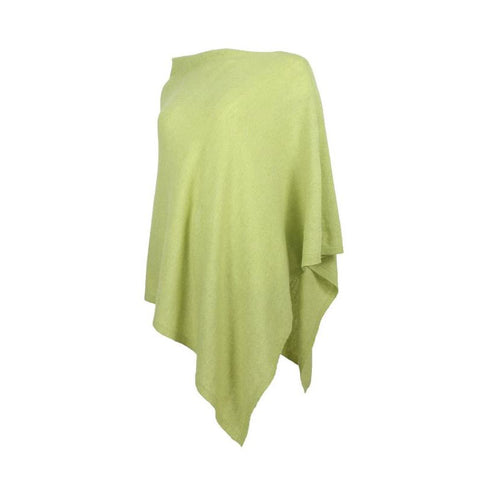 Italian Wool/Cashmere Mix Pistachio Poncho from Cadenza