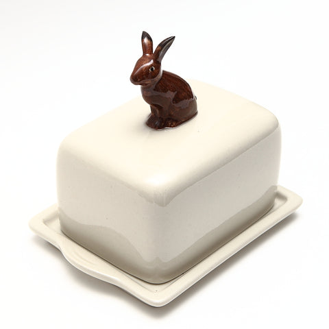 Quail Designs Hare Ceramic Butter Dish