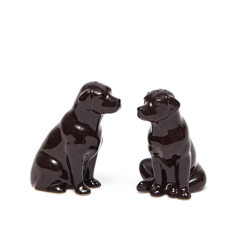 Quail Ceramics Chocolate Labradors Salt and Pepper Set