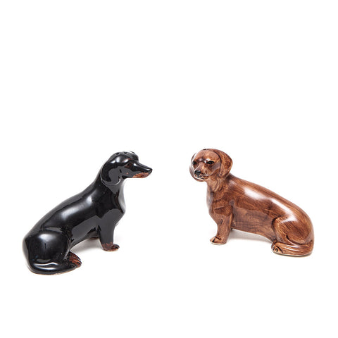 Quail Ceramics Dachshund Salt and Pepper Set