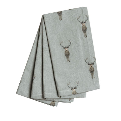 Sophie Allport Highland Stag Linen Napkins (set of 4)