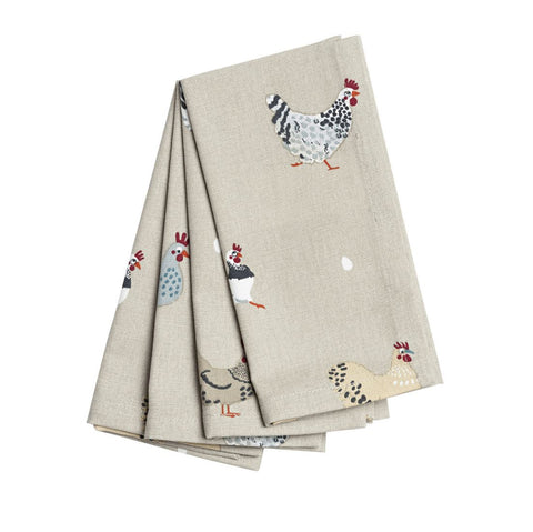 Sophie Allport  Lay a Little Egg Hen Napkins (Set of 4)