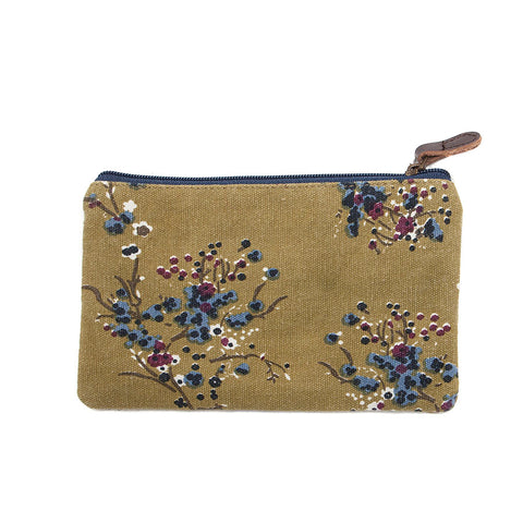 Shruti Moss Green Floral Make-Up Bag