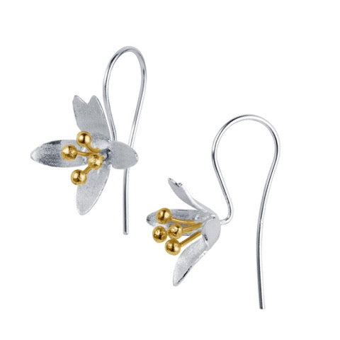 Christin Ranger Silver Golden Crocus Earrings